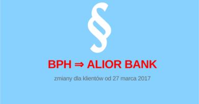 Alior Bank podnosi opłaty. Zmiany dla klientów dawnego BPH.