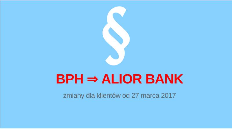Alior Bank. Zmiana opłat.